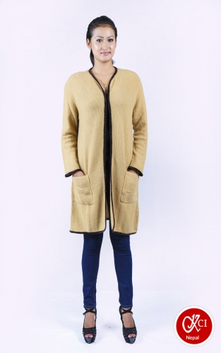 Women's Cashmere Long Knit Cardigan Coat