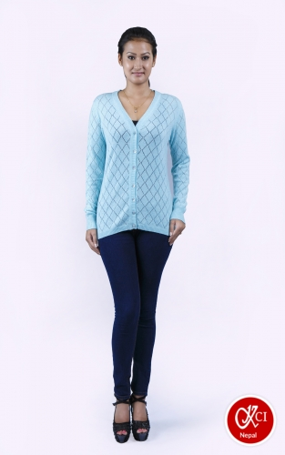 Light Blue Pattern Cardigan