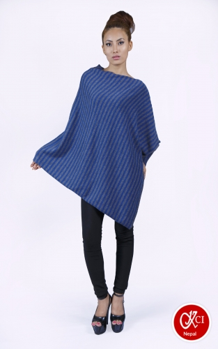 Women's Pure Cashmere Pattern Poncho