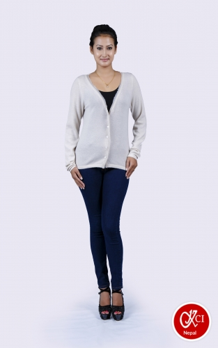 Pure Cashmere V-Neck Cardigan