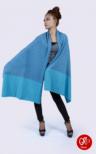 Blue Shwal For Women