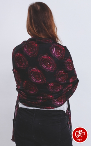 Rose decorated scarves for women