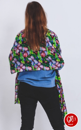 Floral print shawl for women