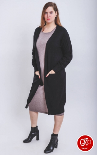 Long black Sweater for women