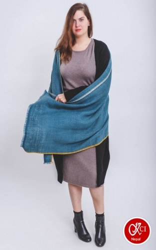 Sky color Shawl For Ladies