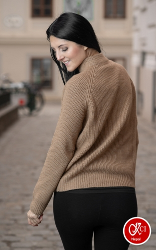 Cashmere Pullover For Women Light Brown