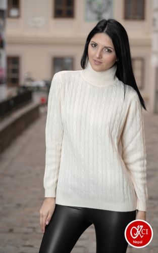 Cashmere Cream Color Pullover For Women