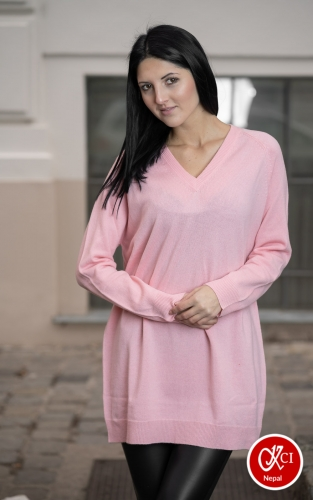 Cashmere Pink Pullover For Women