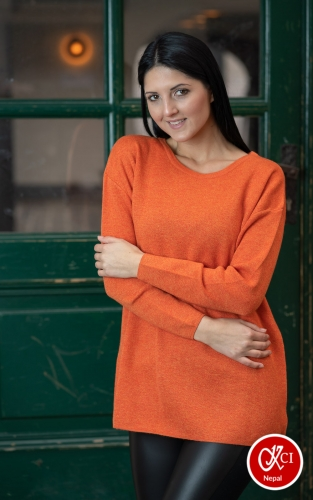 Round Neck Pullover For Women