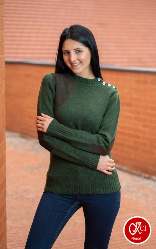 Cashmere Designed Pullover For Women