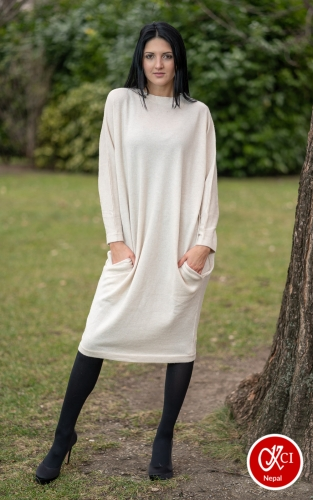 Cashmere Long Size Dress For Women