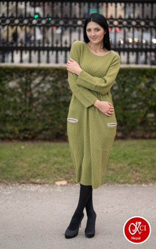Oversize Cashmere Dress For Women