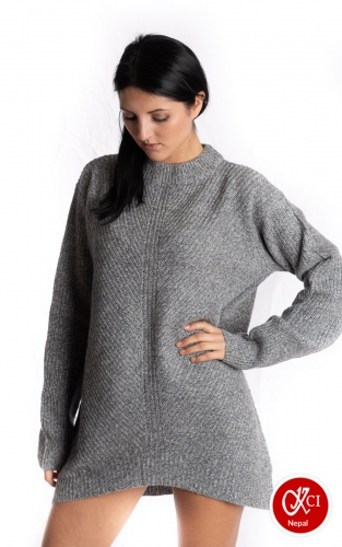 Cashmere Long Size Top For Women