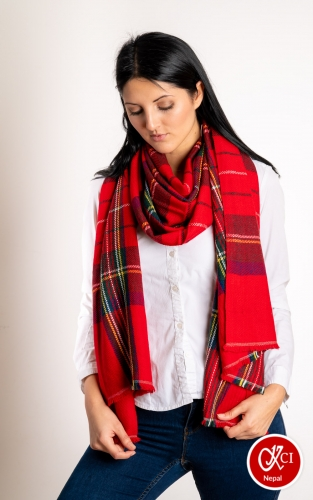 Multicolor Cashmere Scrave For Women