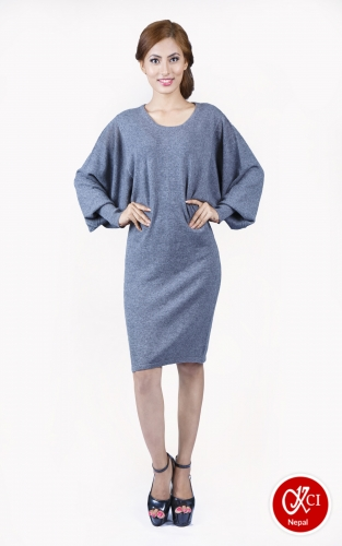 Women's Pure Cashmere Dress Loose Fit